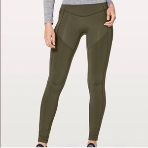Lululemon All The Right Places in Olive Green